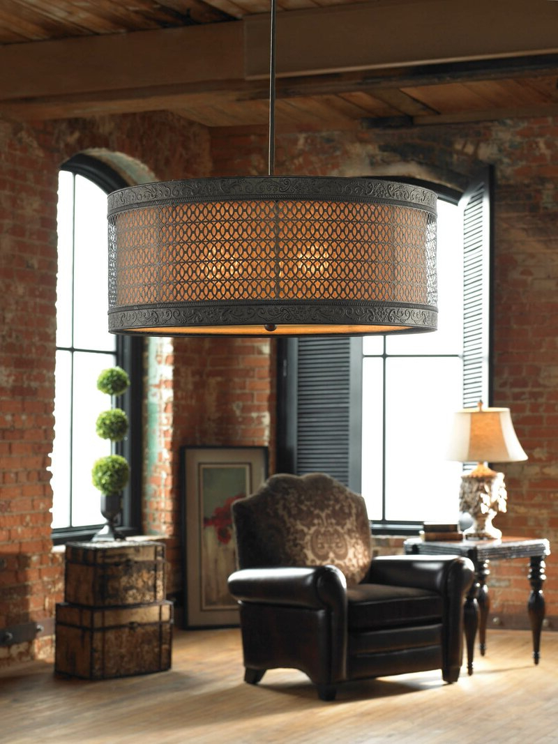 Emaria 3 Light Single Drum Pendants In Favorite Vanhook 3 Light Single Drum Pendant (Gallery 6 of 20)