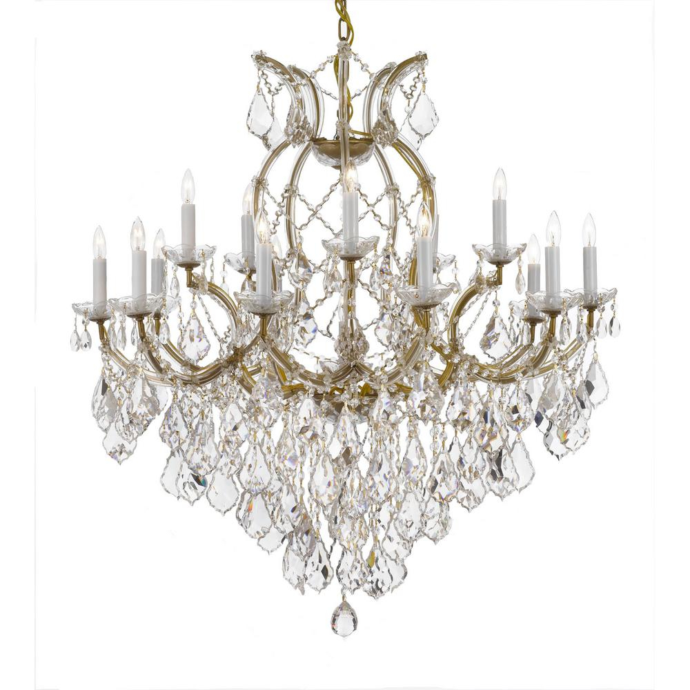 Emaria 4 Light Unique / Statement Chandeliers With Famous Maria Theresa 16 Light Crystal Chandelier Gold (View 7 of 20)