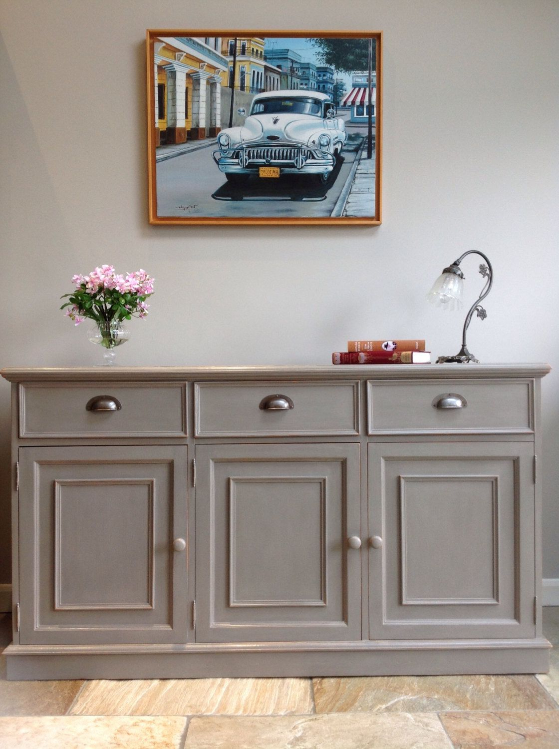 Emmaline Sideboards Intended For Preferred Now Sold* Rustic Painted Grey Pine Country Sideboard (View 7 of 20)