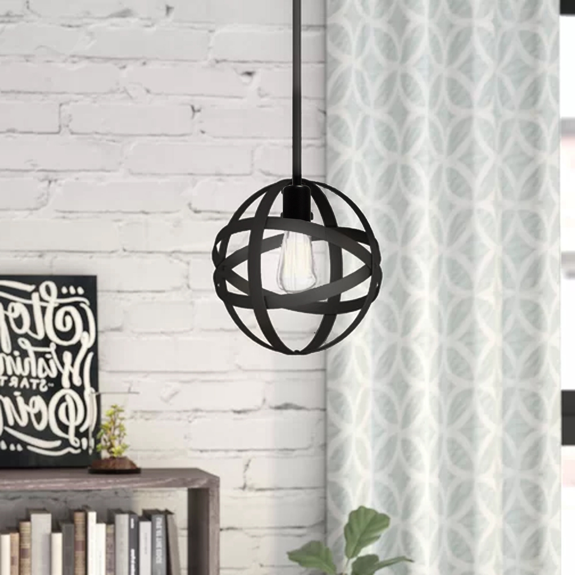 Enzo 1 Light Single Globe Pendant With Regard To Trendy Irwin 1 Light Single Globe Pendants (View 3 of 20)