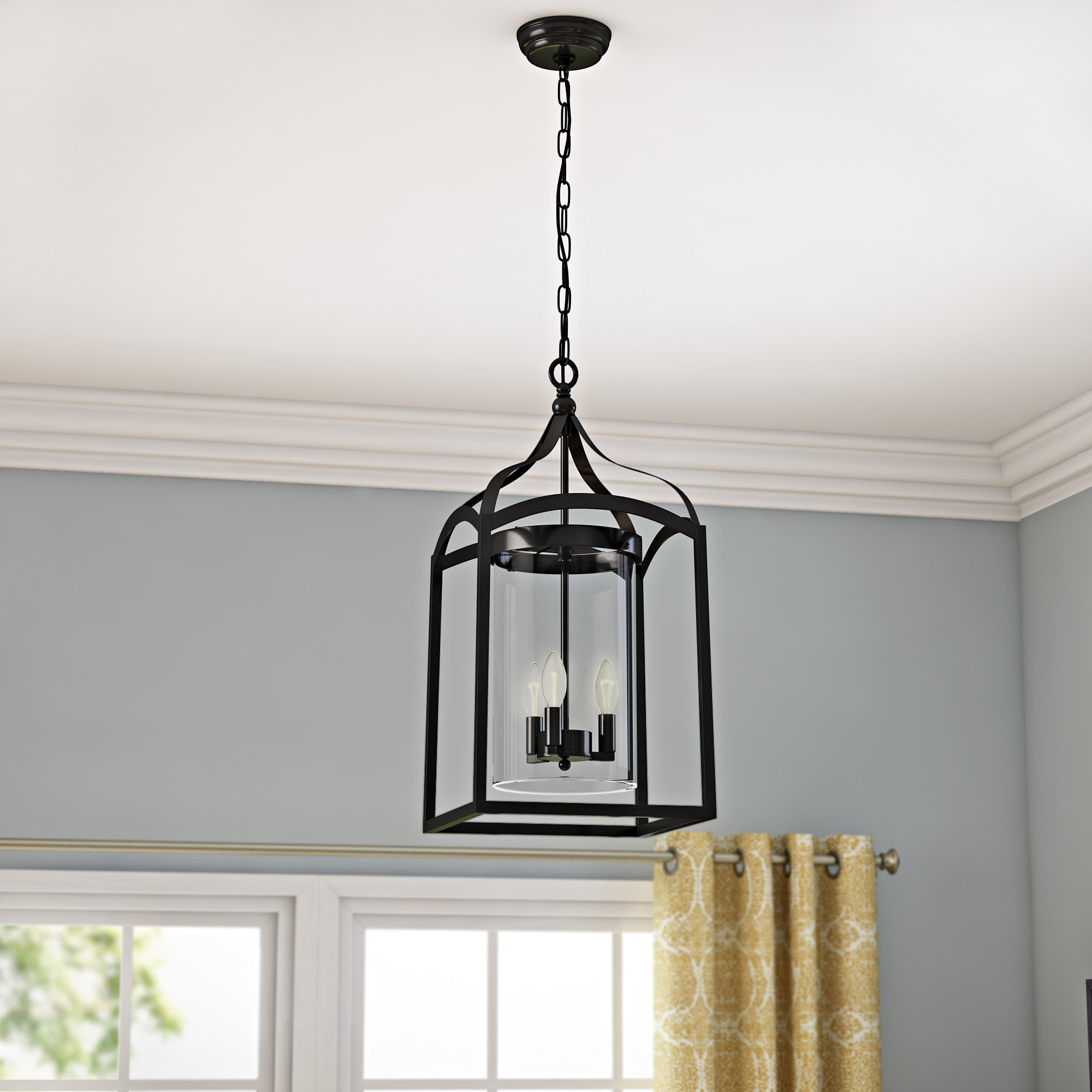 Ericsson 3 Light Lantern Square Pendant Within Most Popular Sherri Ann 3 Light Lantern Square / Rectangle Pendants (Gallery 9 of 20)