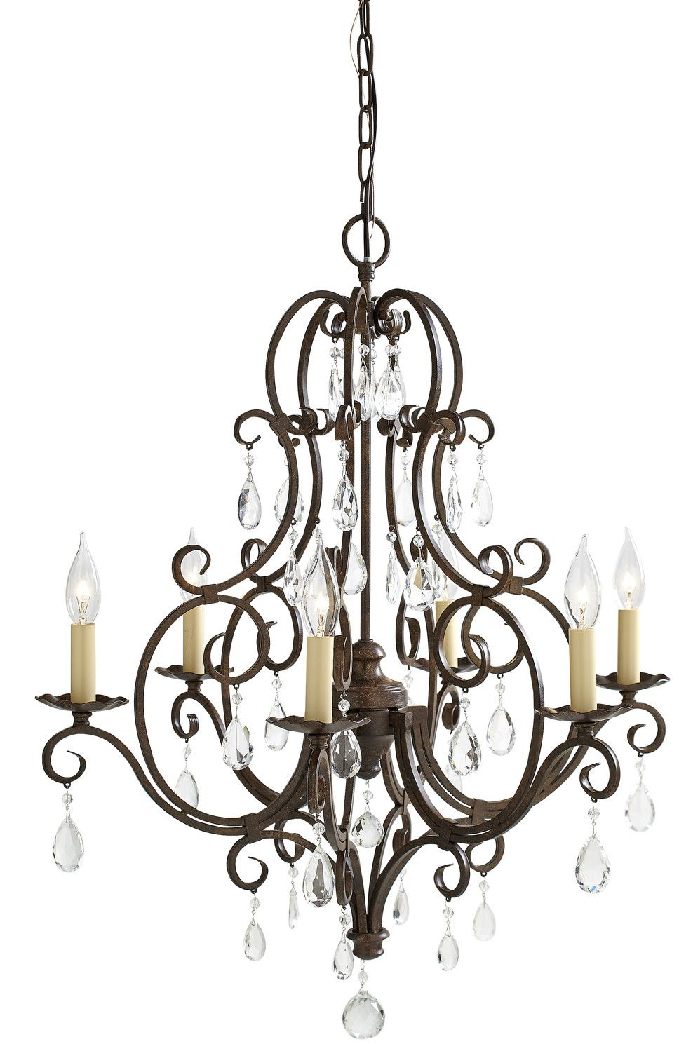 Esse 6 Light Candle Style Chandelier In  (View 11 of 20)