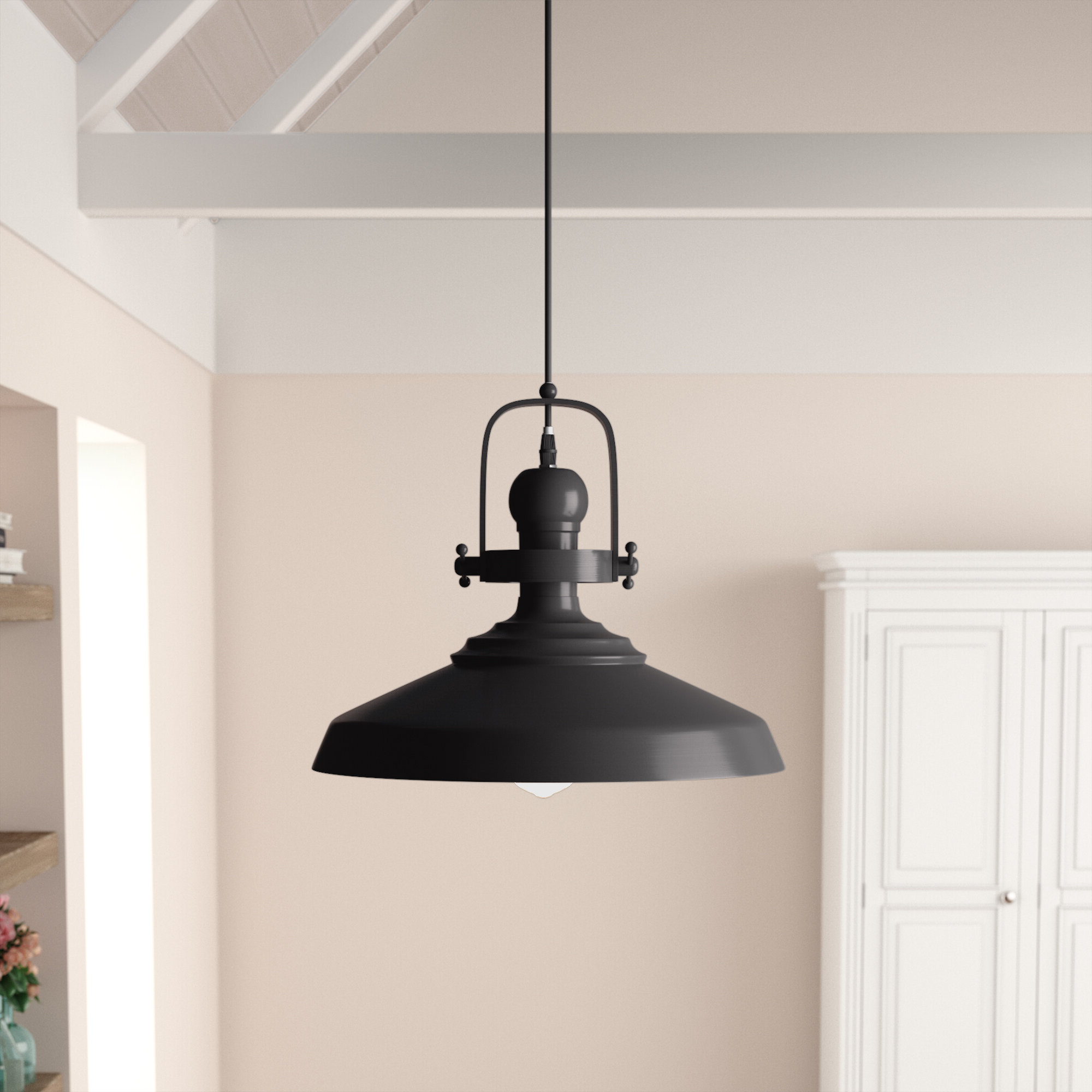 Estelle 1 Light Single Cone Pendant In Recent Mueller 1 Light Single Dome Pendants (Gallery 15 of 20)