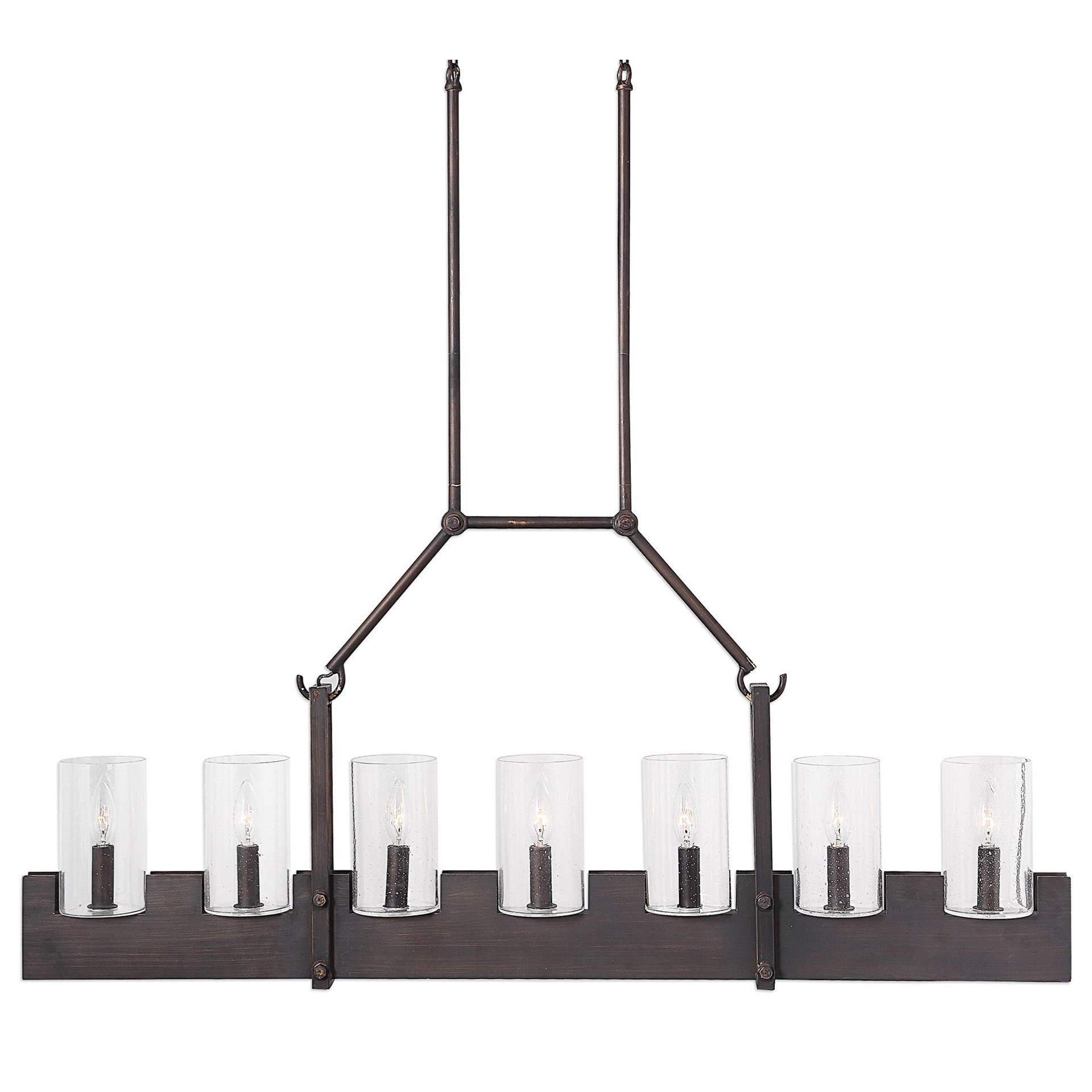 Euclid 2 Light Kitchen Island Linear Pendants For Fashionable Uttermost Lighting Fixtures – Pendant Lights 21318 Pinecroft (View 10 of 20)