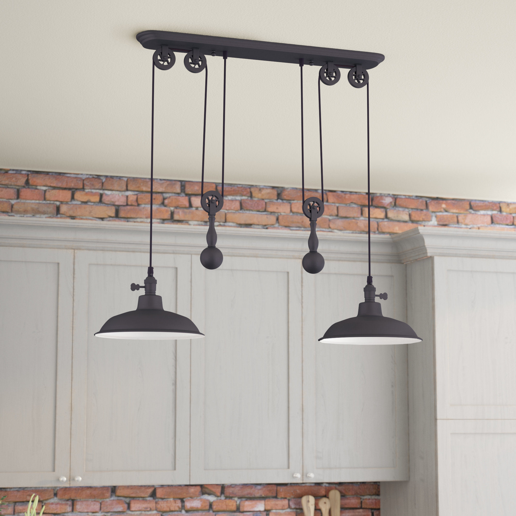 Euclid 2 Light Kitchen Island Linear Pendants Throughout Current Over Island Lighting You'll Love In  (View 12 of 20)