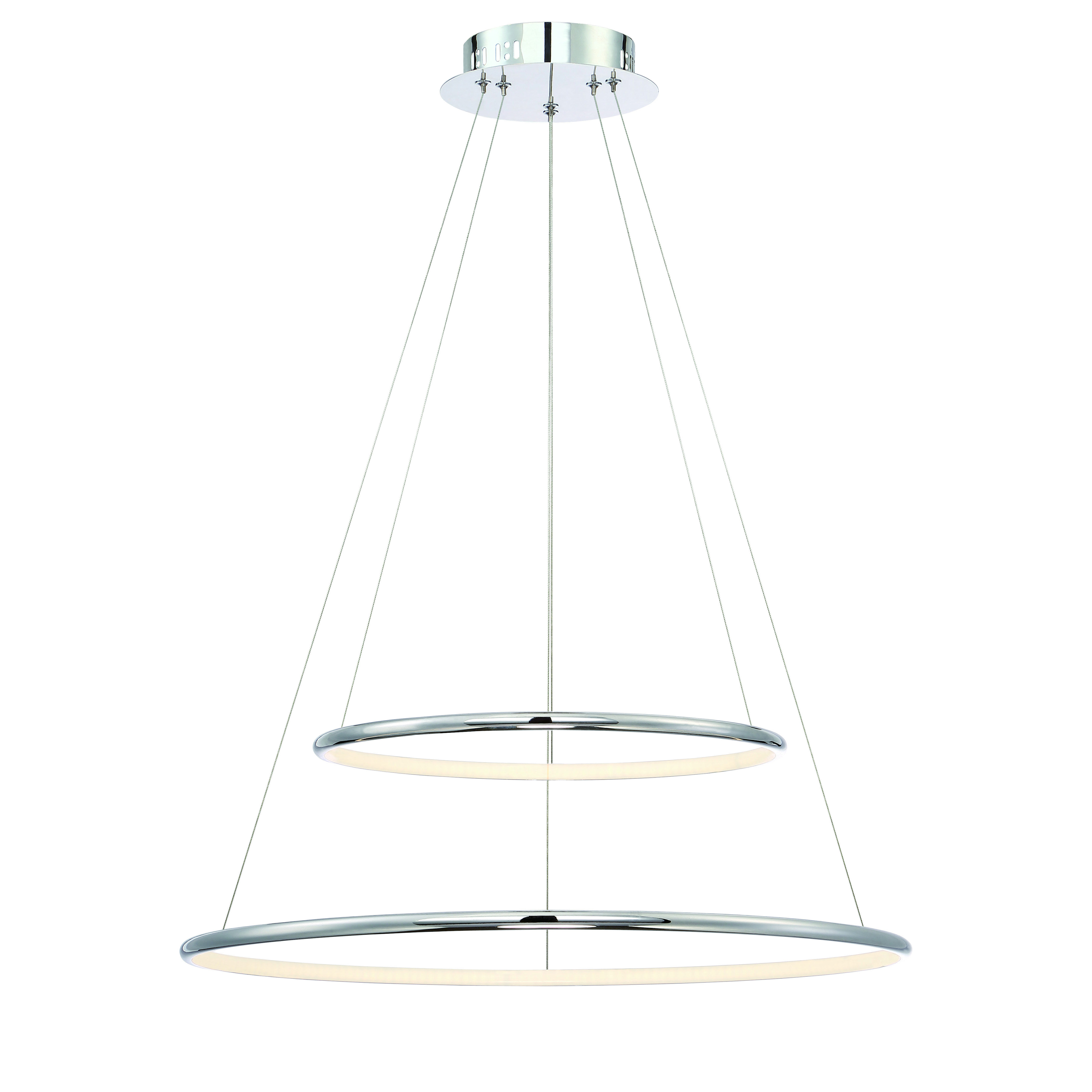 Eurofase Valley 31856 010 Led Double Tiered Chandelier Pertaining To Most Recent Chauvin 3 Light Lantern Geometric Pendants (View 11 of 20)