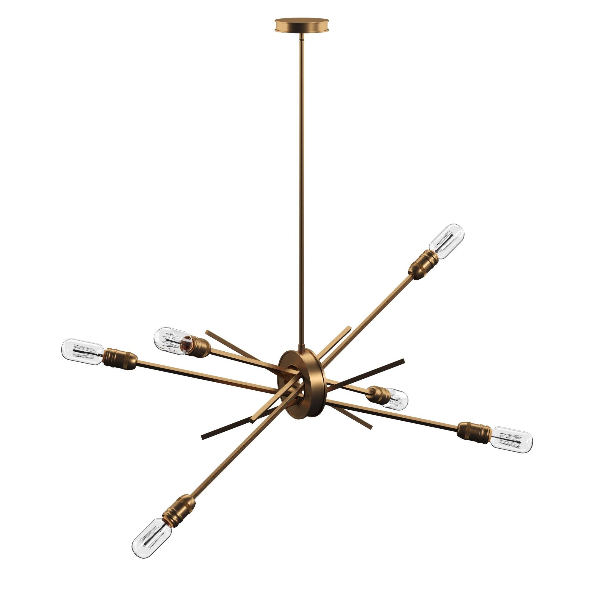 Everett 10 Light Sputnik Chandeliers Throughout Famous Byler 6 Light Sputnik Chandelier (Gallery 15 of 20)