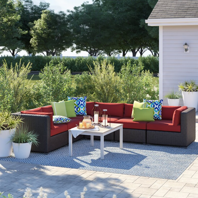 Fairfield Patio Sectional With Cushions Throughout Well Known Wrobel Patio Sectionals With Cushion (View 3 of 20)