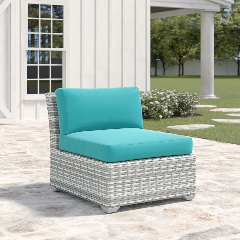 Falmouth Loveseats With Cushions Throughout Widely Used Falmouth Armless Patio Chair With Cushions (View 19 of 20)