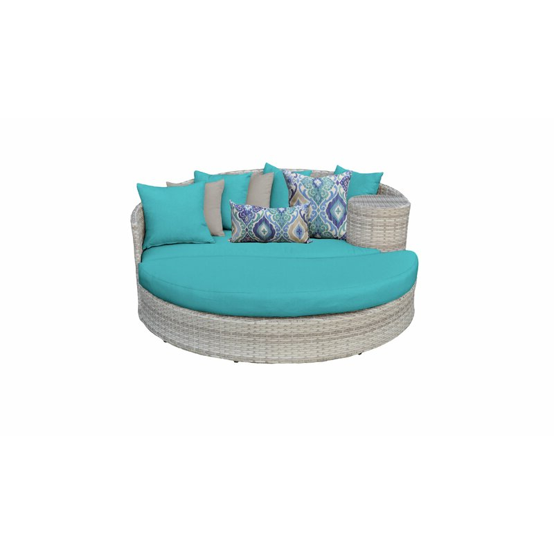 Falmouth Patio Daybed With Cushions Pertaining To Popular Falmouth Patio Sofas With Cushions (View 9 of 20)