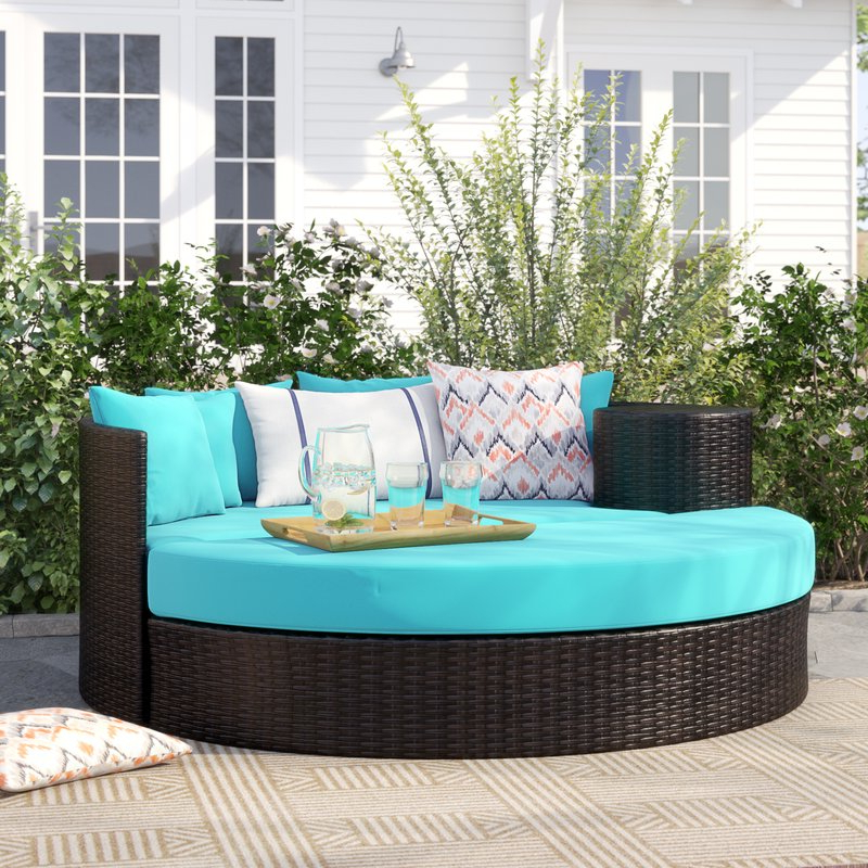 Falmouth Patio Daybeds With Cushions Pertaining To 2019 Freeport Patio Daybed With Cushion (View 4 of 20)