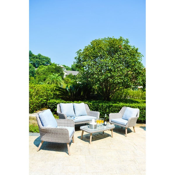Falmouth Patio Sofas With Cushions Pertaining To Well Known Shop Havenside Home Falmouth Gray Wicker Sofa Set – On Sale (Gallery 16 of 20)