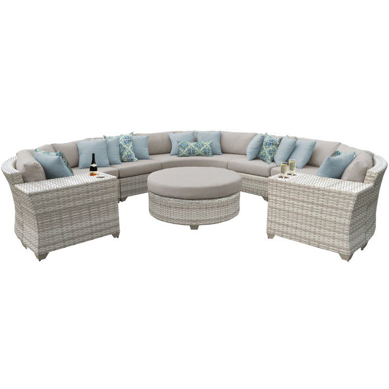 Falmouth Patio Sofas With Cushions Throughout Most Popular Falmouth 8 Piece Sectional Seating Group With Cushions (View 11 of 20)