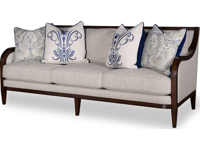 Famous A.r.t. Furniture Bristol Seine Pewter Sofa With Tapered Legs With Bristol Loveseats With Cushions (Gallery 16 of 20)