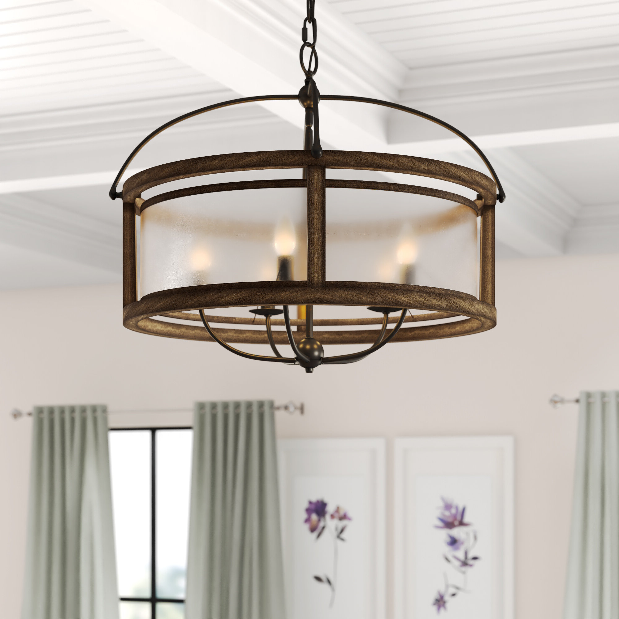 Famous Aadhya 5 Light Drum Chandelier For Wightman Drum Chandeliers (View 3 of 20)