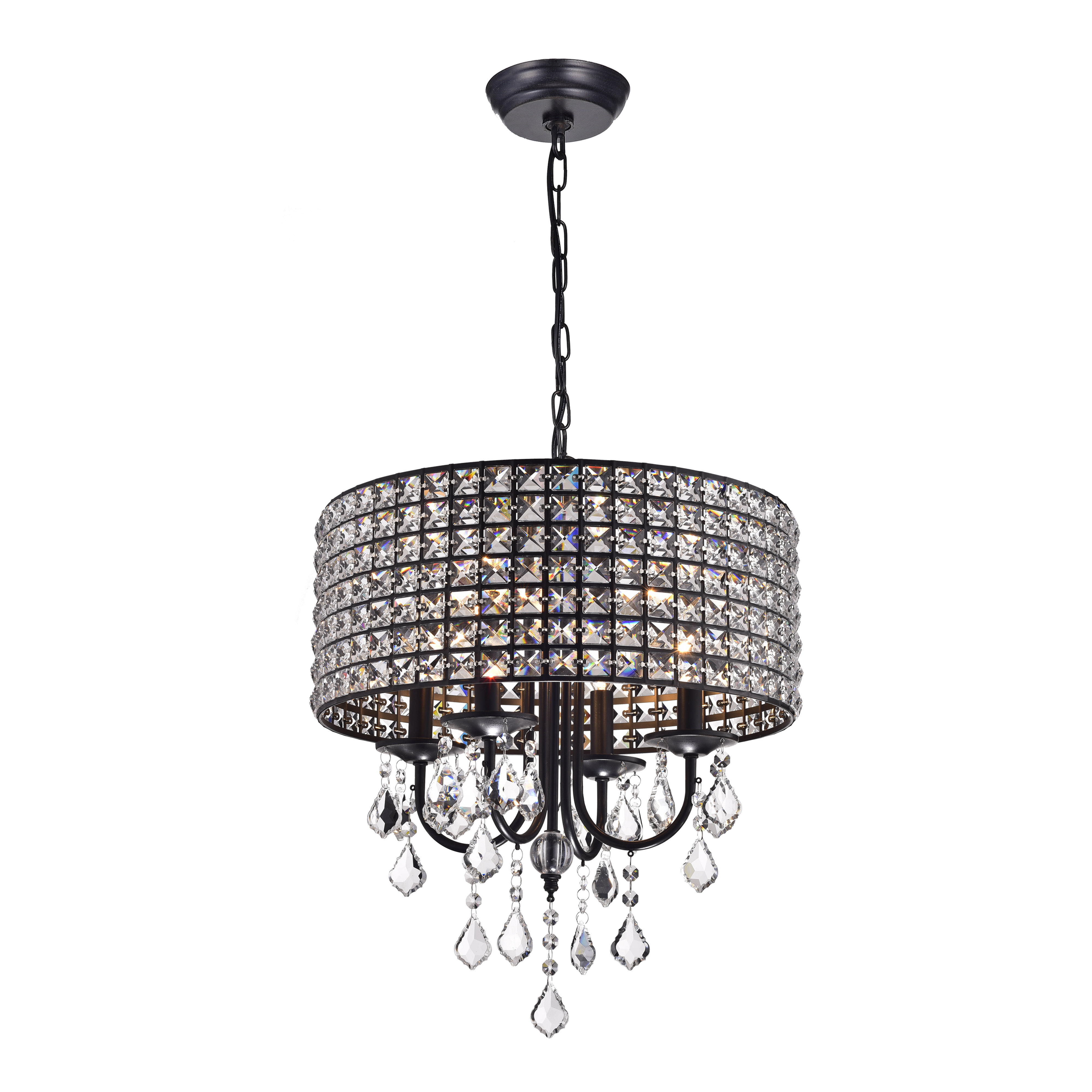 Famous Albano 4 Light Crystal Chandeliers Intended For Willa Arlo Interiors Albano 4 Light Crystal Chandelier (Gallery 6 of 20)