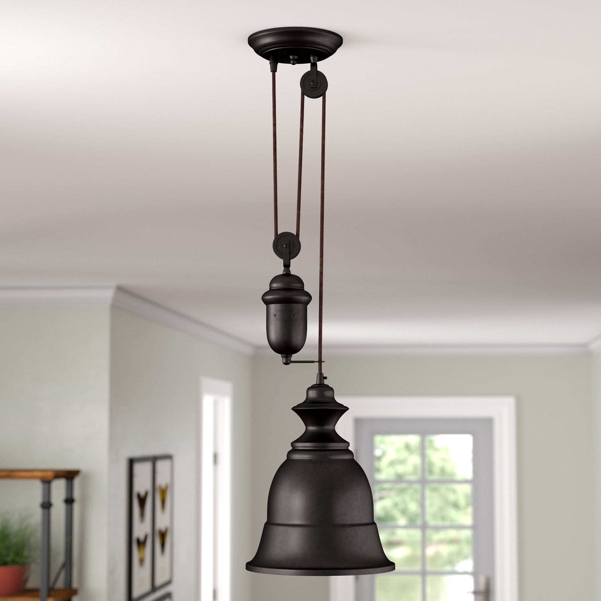 Famous August Grove Elsenborn 1 Light Single Bell Pendant With Erico 1 Light Single Bell Pendants (Gallery 10 of 20)