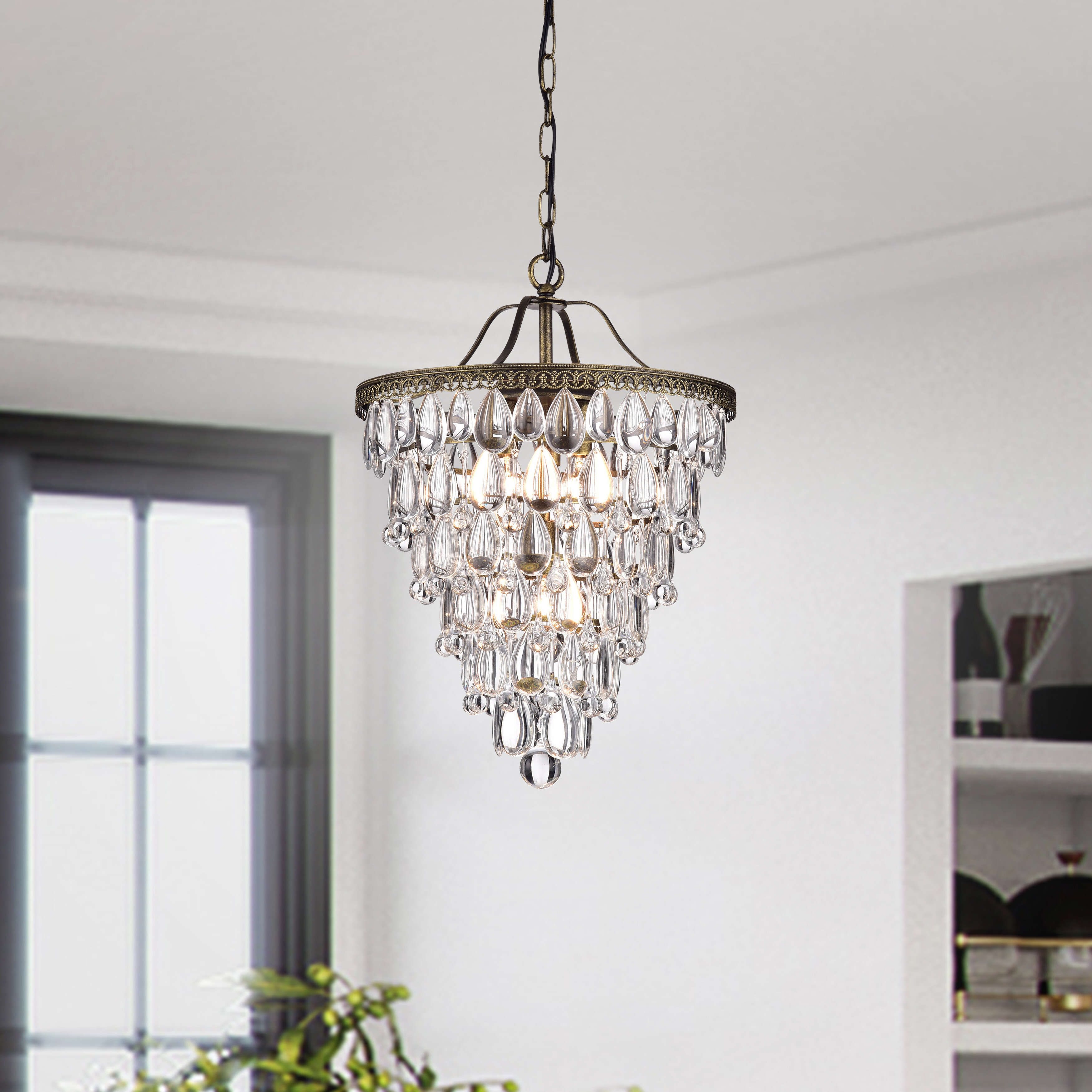 Famous Benedetto 5 Light Crystal Chandeliers In Totnes 4 Light Crystal Chandelier (Gallery 16 of 20)
