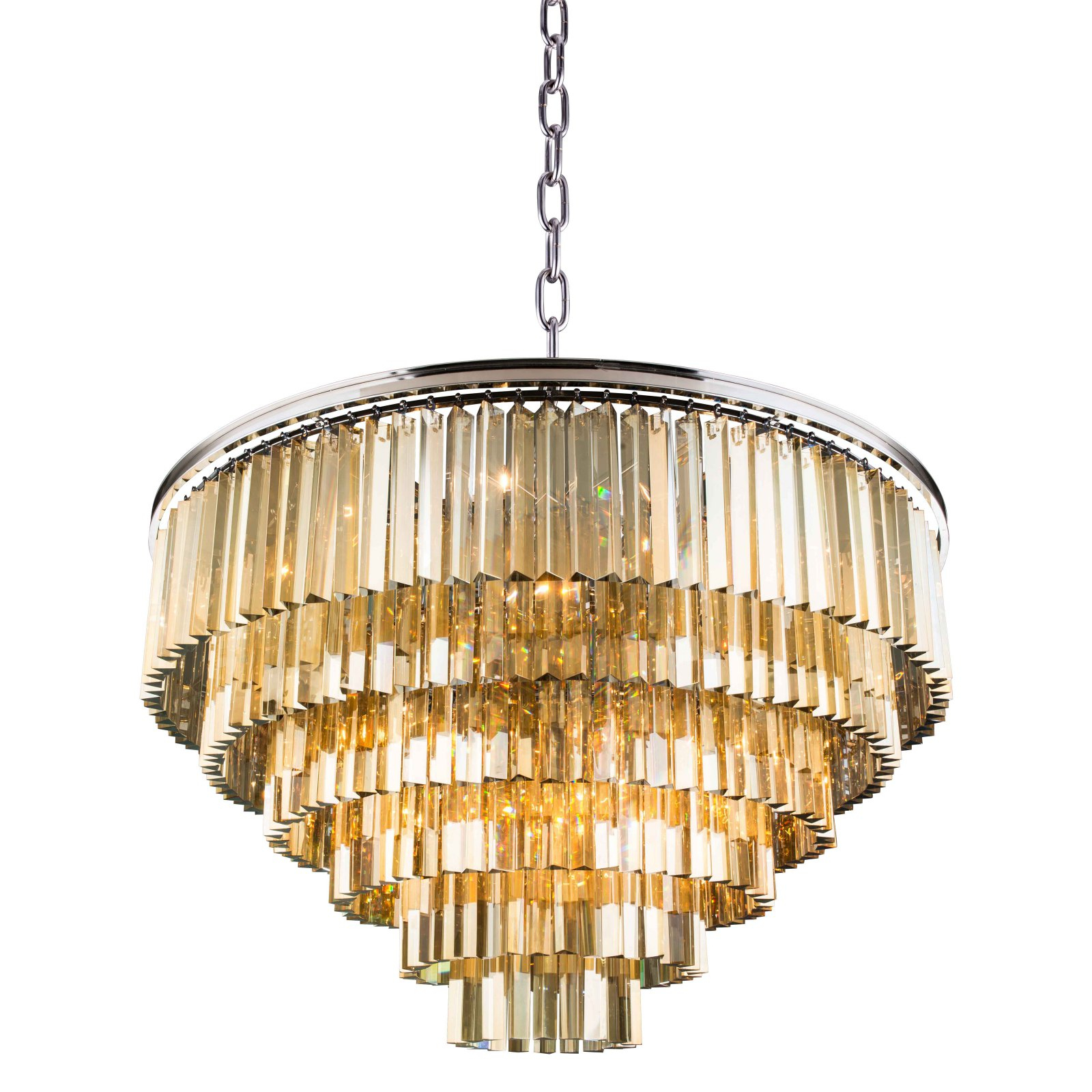 Famous Benedetto 5 Light Crystal Chandeliers With Regard To Urban Classic Sydney Collection 44 In. Chandelier Golden (Gallery 13 of 20)