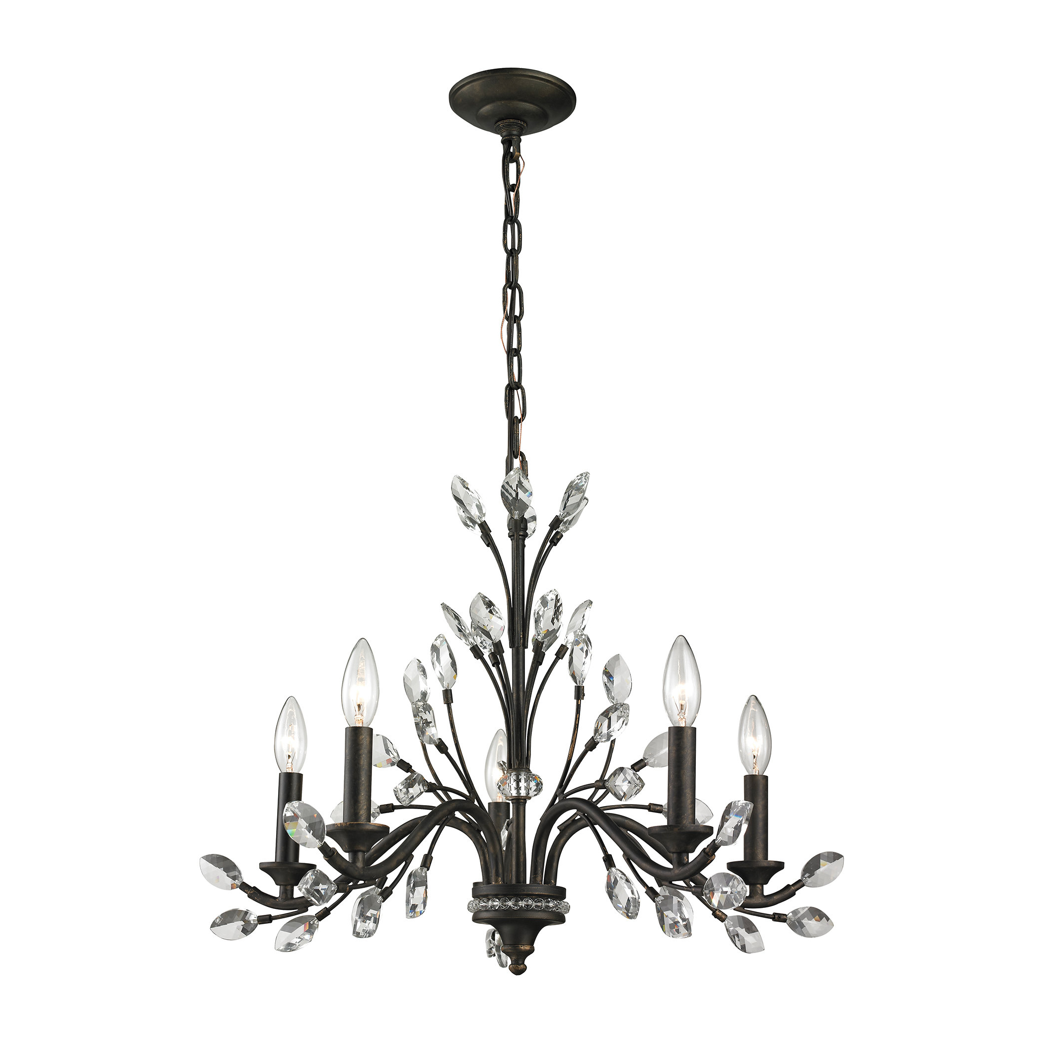 Famous Berger 5 Light Candle Style Chandeliers In Hammel 5 Light Candle Style Chandelier (View 9 of 20)
