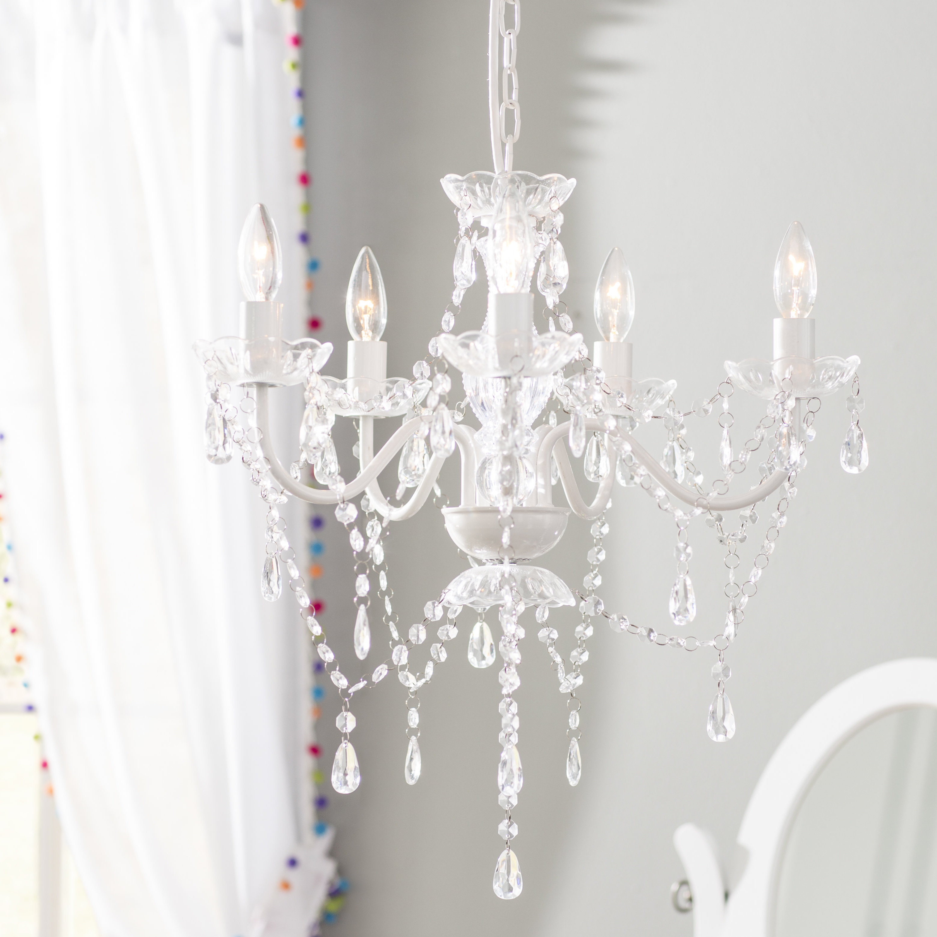 Famous Blanchette 5 Light Candle Style Chandeliers Inside Senoia 5 Light Candle Style Chandelier (View 10 of 20)