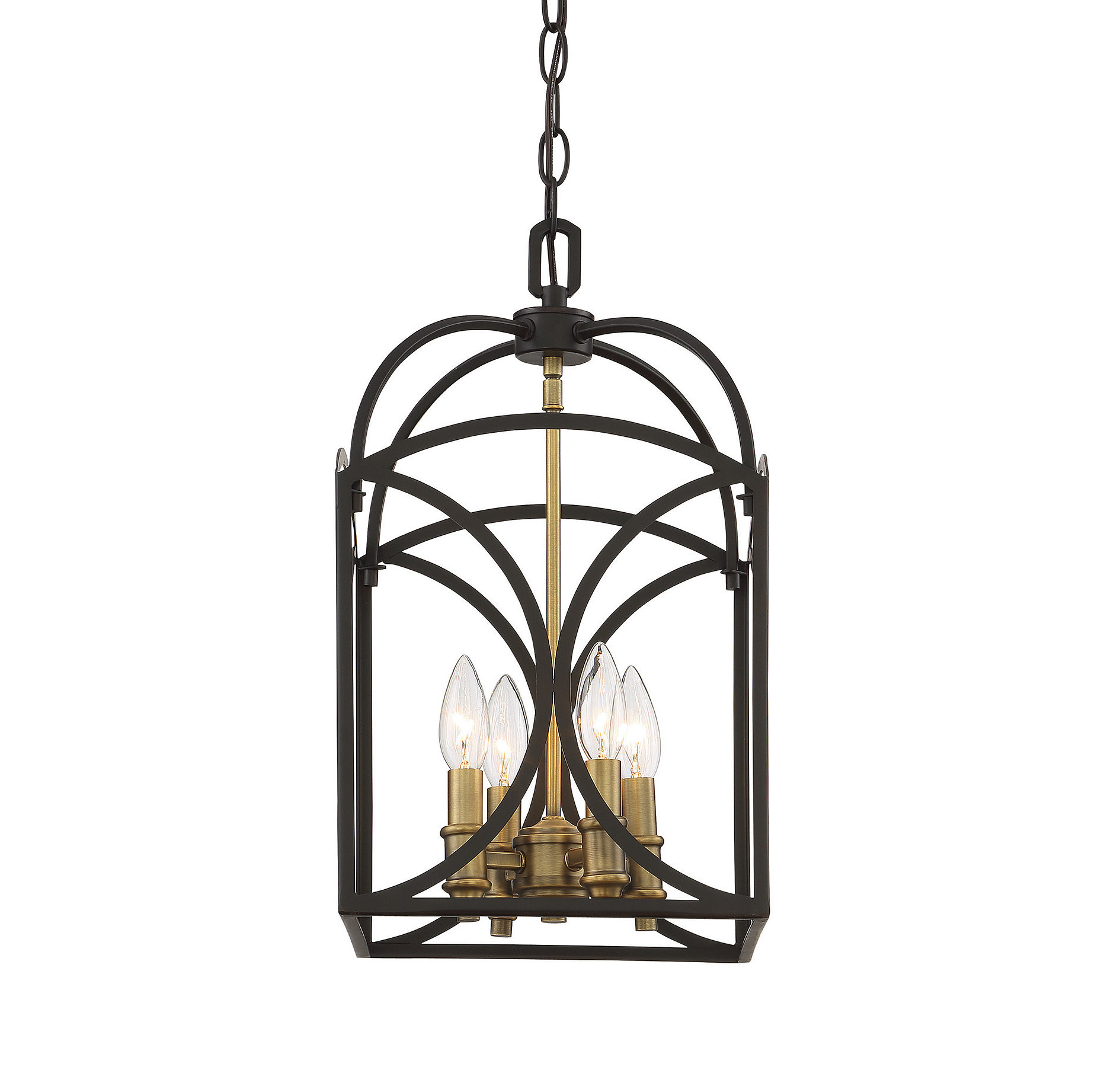 Famous Bungalow Rose Yepez 4 Light Lantern Square Pendant Inside Taya 4 Light Lantern Square Pendants (View 13 of 20)