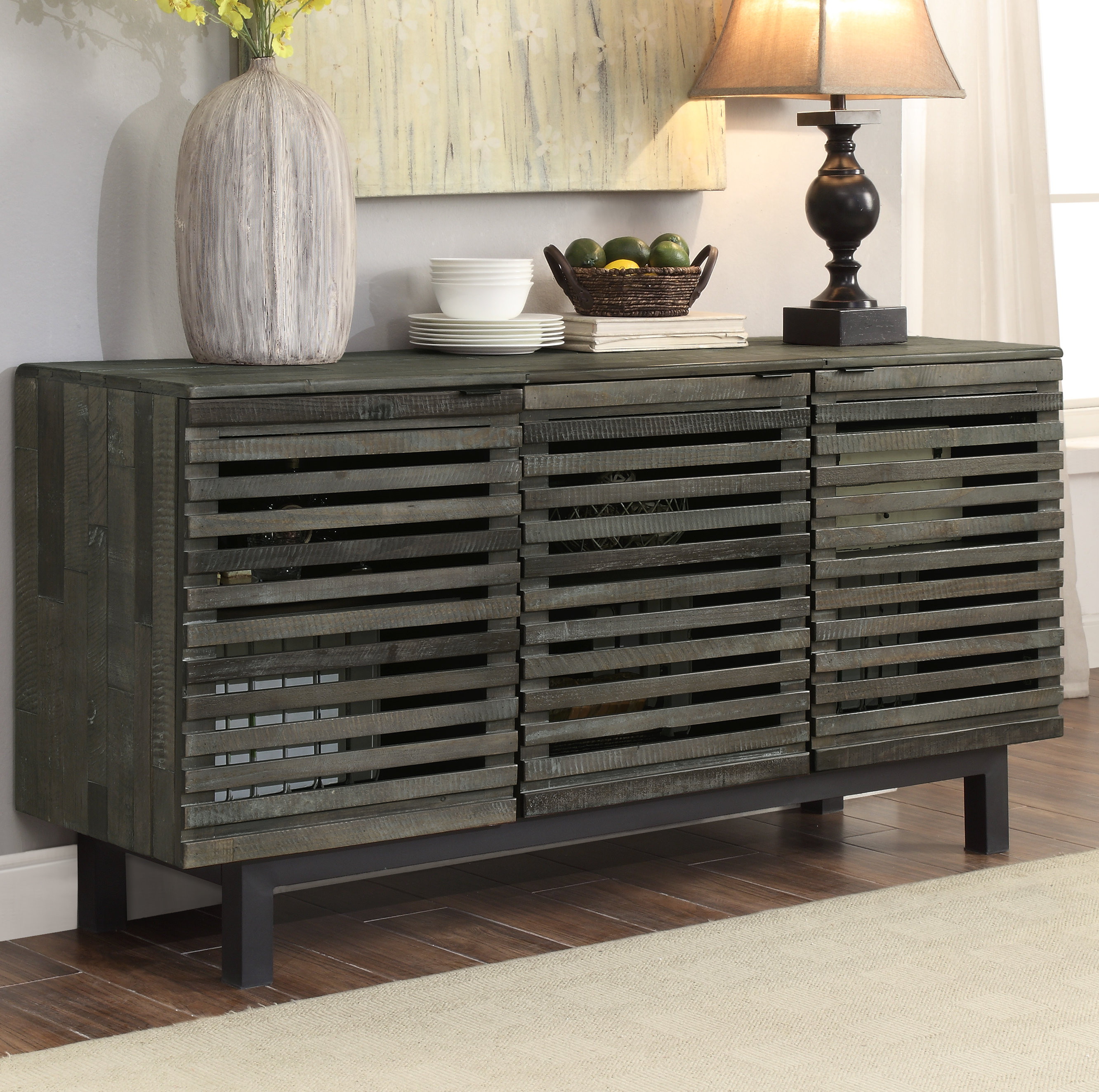 Famous Burnam Credenza In Baleine 3 Drawer Sideboards (View 7 of 20)