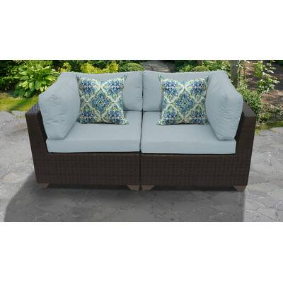 Famous Camak Patio Loveseats With Cushions Inside Camak 7 Piece Sectional Seating Group With Cushions (Gallery 5 of 20)
