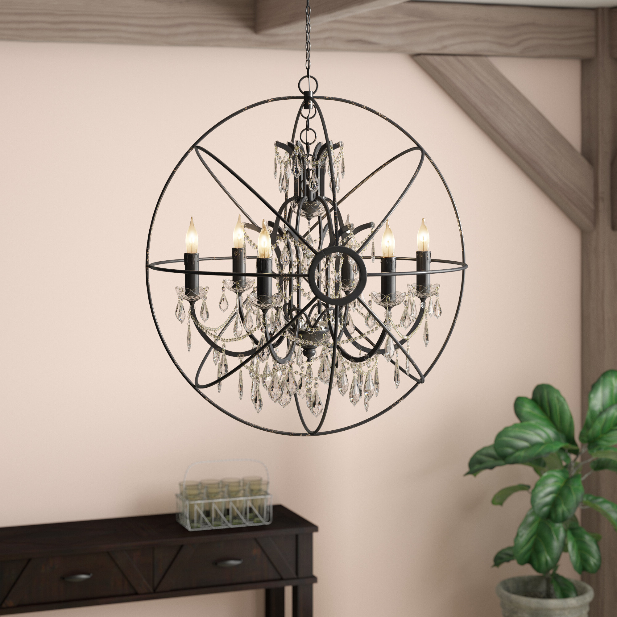 Famous Cearbhall 6 Light Globe Chandelier In Gregoire 6 Light Globe Chandeliers (Gallery 14 of 20)