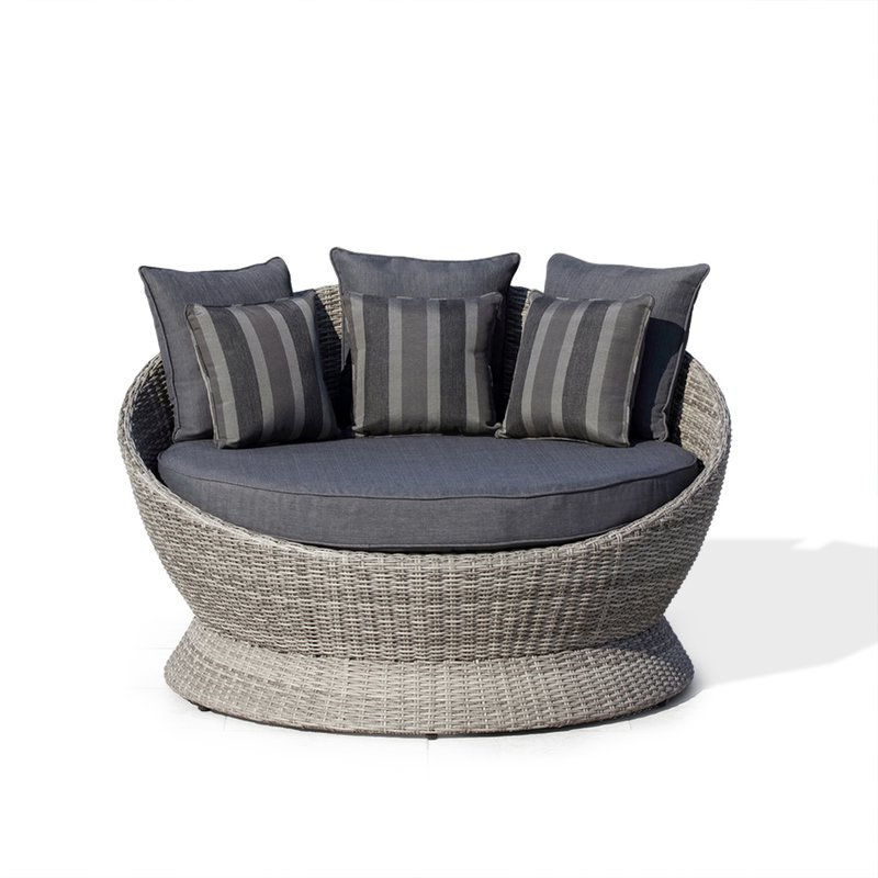 Famous Clary Teak Lounge Patio Daybeds With Cushion With Regard To Brisbane Patio Daybed With Cushions (View 13 of 20)