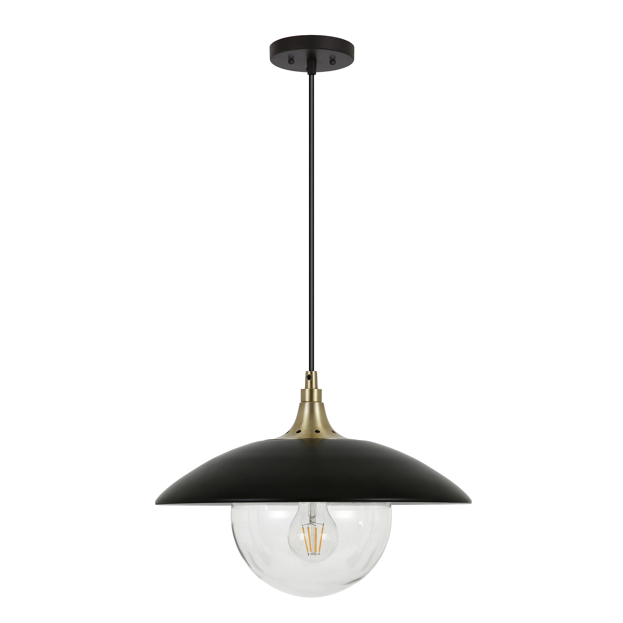 Famous Deveraux 1 Light Single Dome Pendant With Regard To Devereaux 1 Light Single Globe Pendants (View 2 of 20)