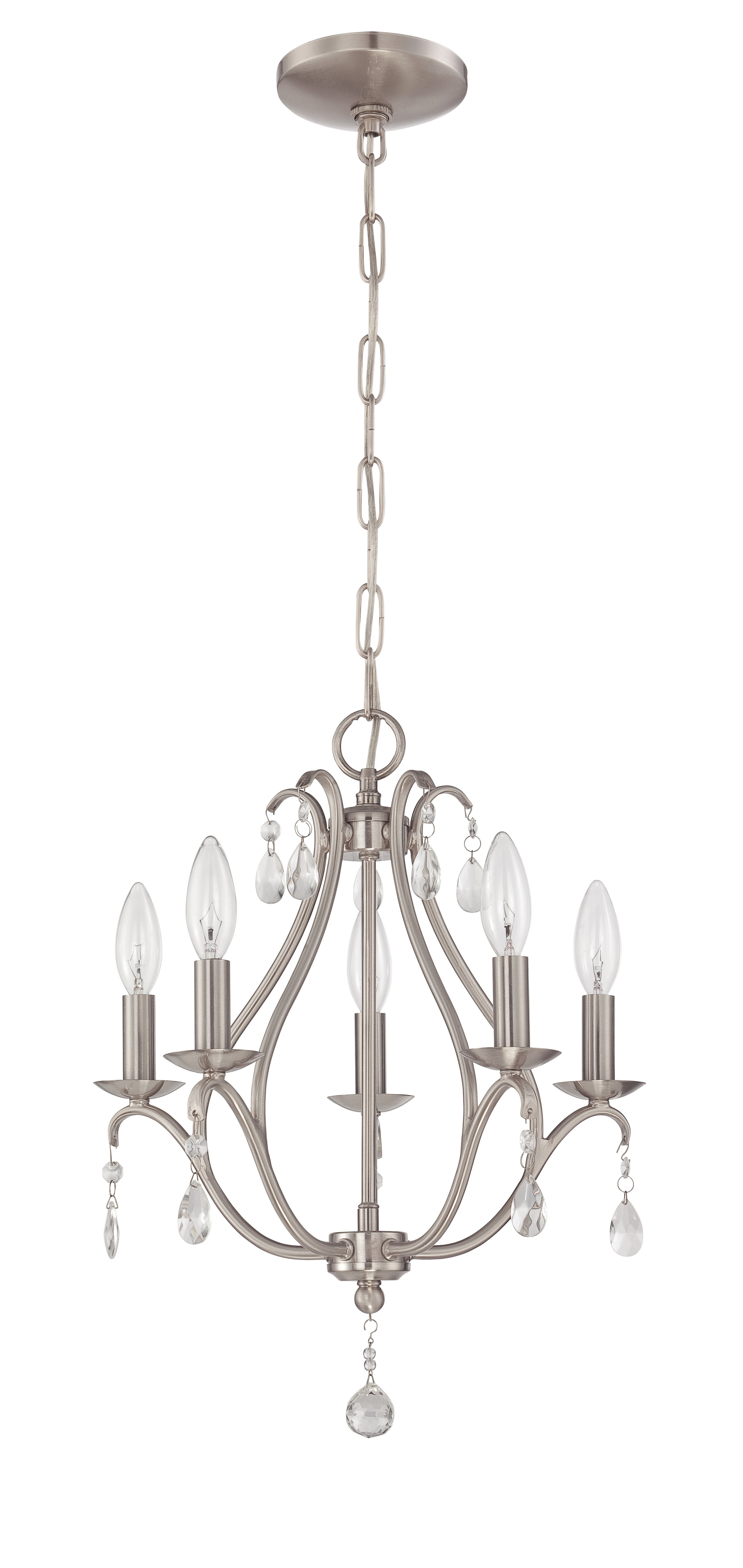 Famous Florentina 5 Light Candle Style Chandeliers Inside Palumbo 5 Light Candle Style Chandelier (View 3 of 20)