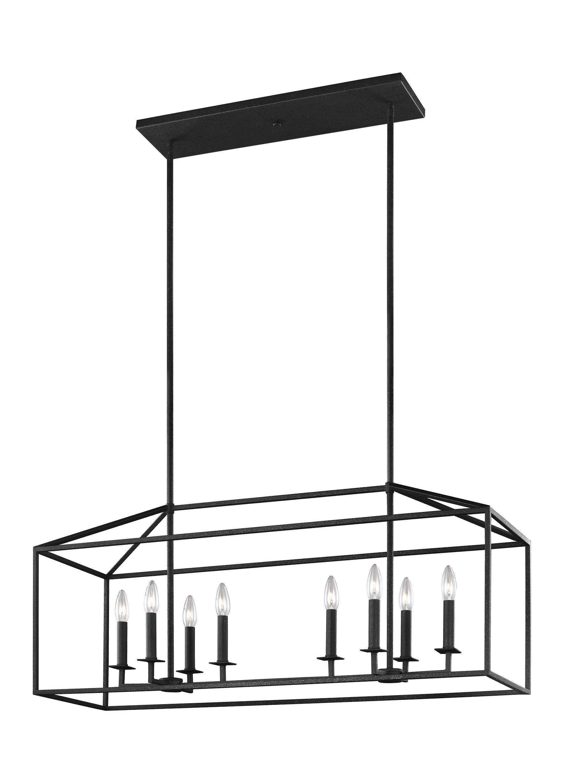 Famous Freemont 5 Light Kitchen Island Linear Chandeliers Inside Odie 8 Light Kitchen Island Square / Rectangle Pendant (Gallery 18 of 20)