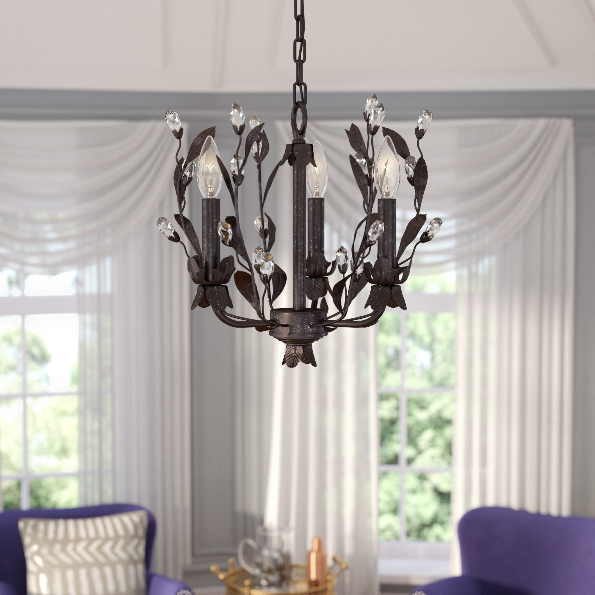 Famous Giovanna 3 Light Candle Style Chandelier For Hesse 5 Light Candle Style Chandeliers (Gallery 16 of 20)