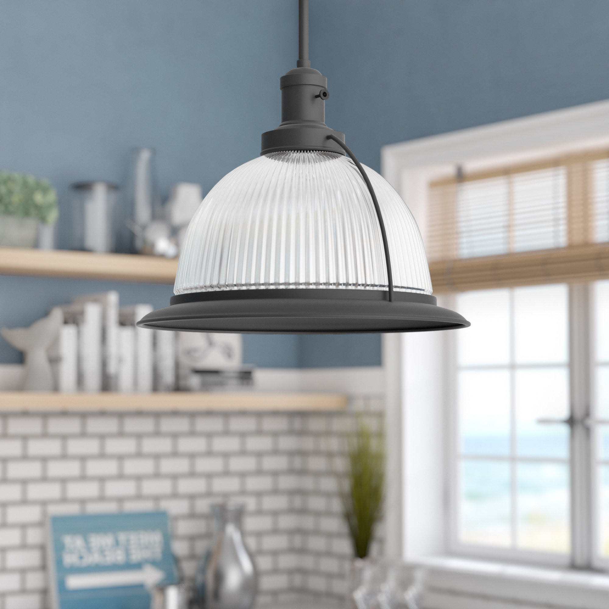 Famous Granville 3 Light Single Dome Pendants Within Delway 1 Light Single Dome Pendant (View 7 of 20)