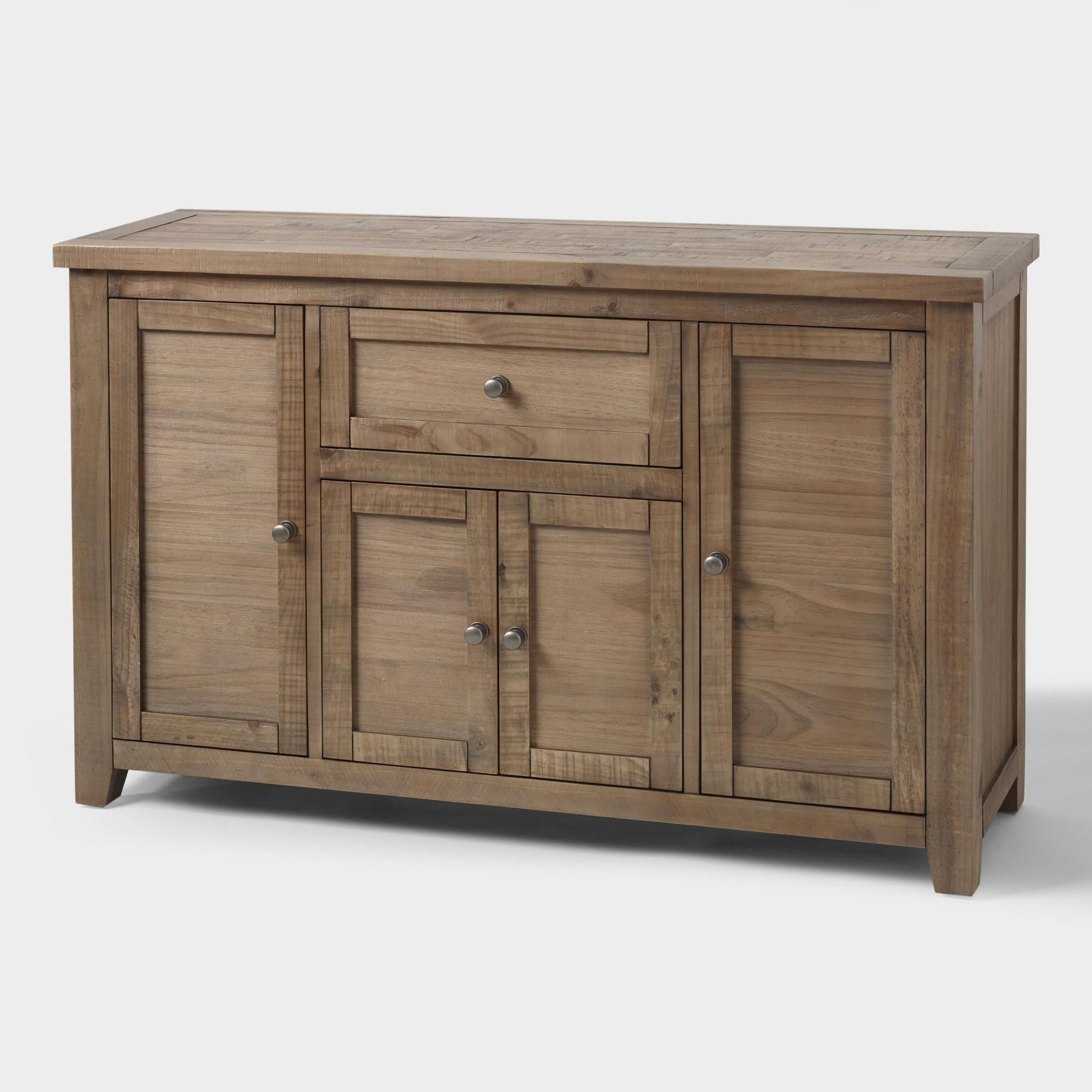 Famous Gray Pine Wood Lisette Storage Cabinetworld Market In Regarding Gertrude Sideboards (View 4 of 20)