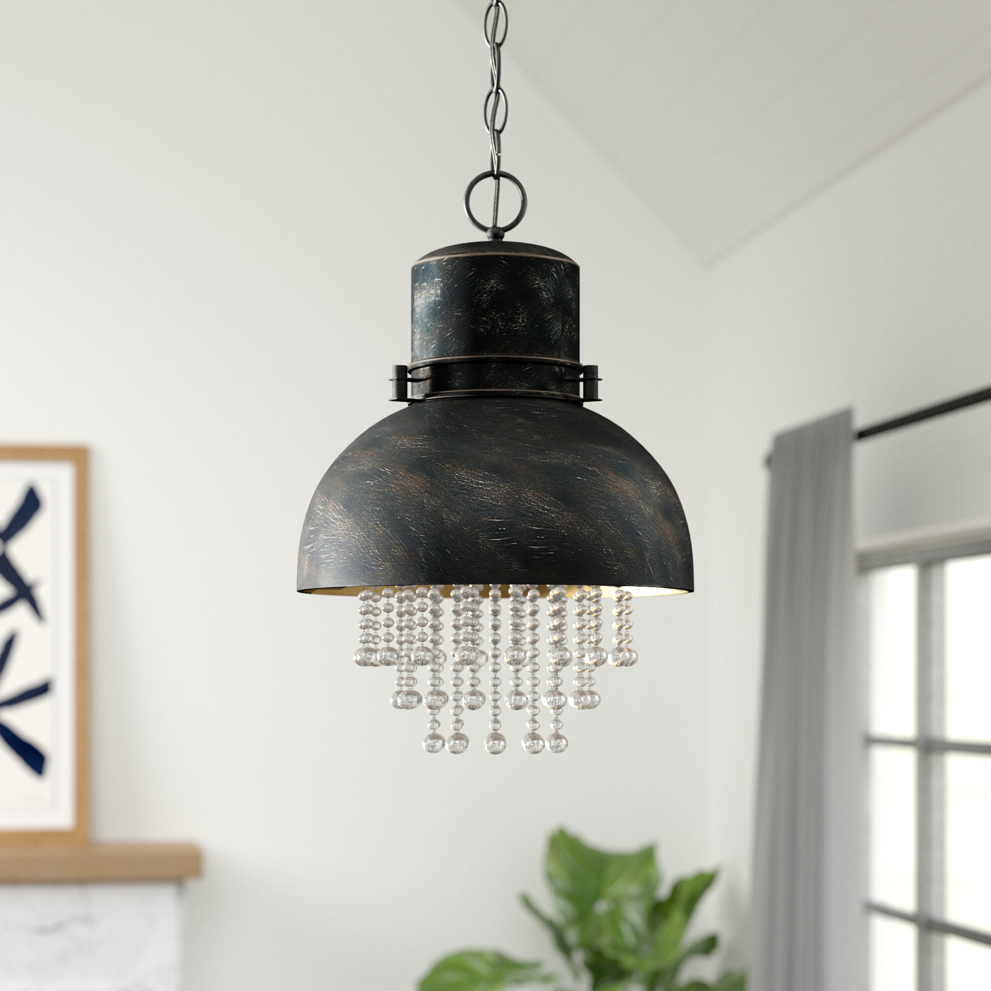 Famous Hermione 1 Light Single Drum Pendants Intended For Monadnock 1 Light Single Dome Pendant (View 5 of 20)