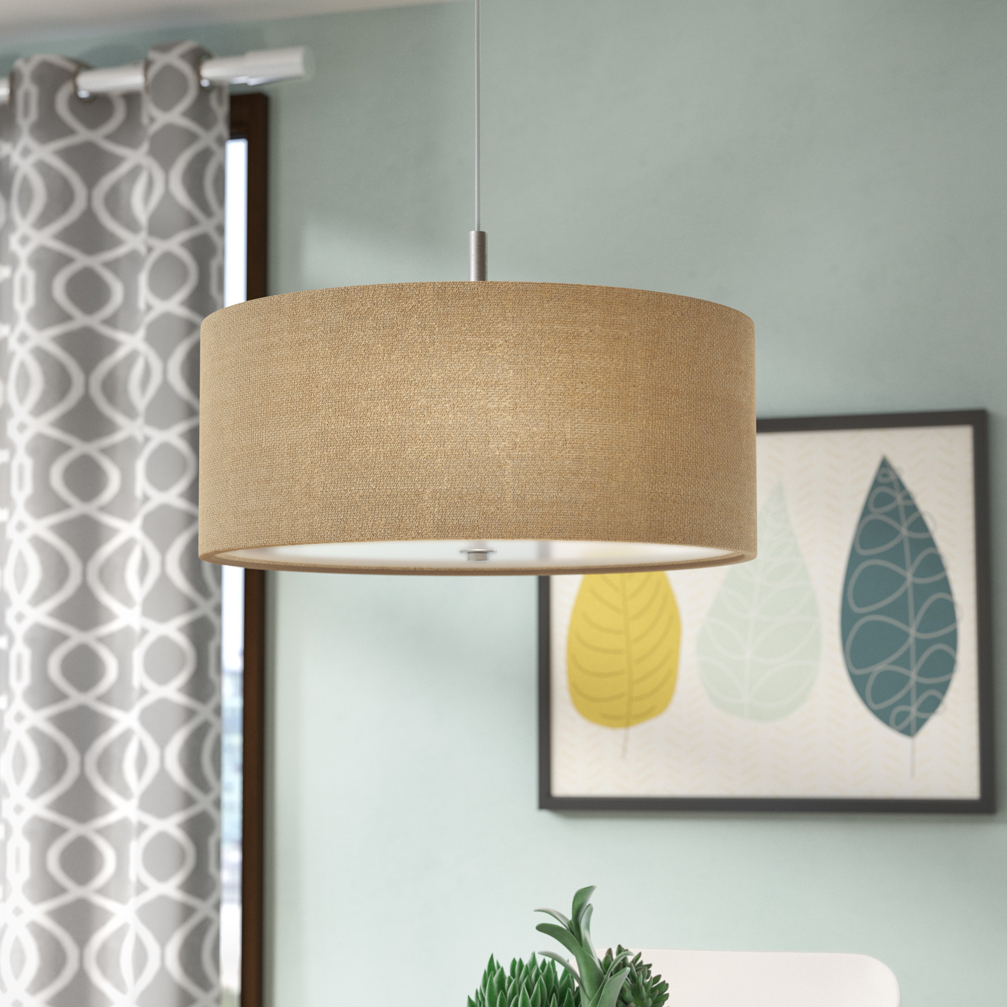 Famous Kasey 3 Light Single Drum Pendants With Mack & Milo Kasey 3 Light Single Drum Pendant & Reviews (View 3 of 20)