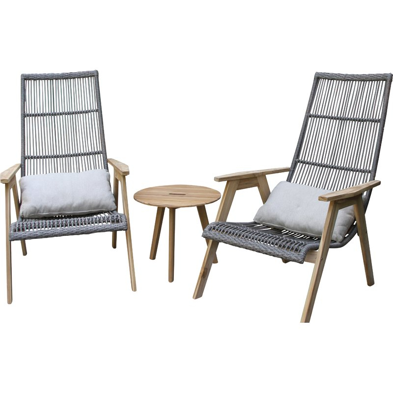 Famous Largent Teak Patio Chair With Cushions Inside Newbury Patio Sofas With Cushions (View 6 of 20)