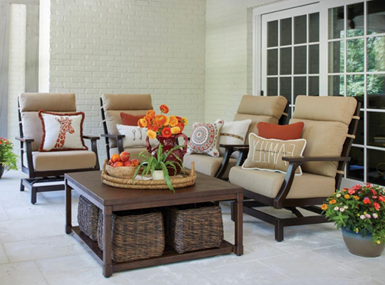 Famous Madison Avenue Patio Sectionals With Sunbrella Cushions Intended For Patio Furniture & Accessories – Dean's Stove & Spa (Gallery 17 of 20)