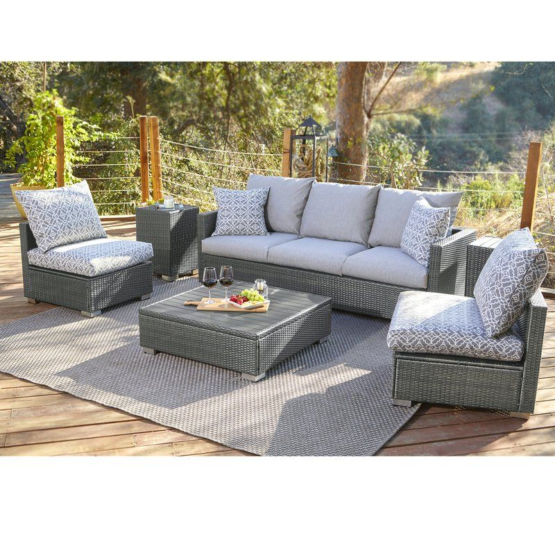 Famous Mcmanis Patio Sofas With Cushion With Mcmanis 6 Piece Rattan Sofa Seating Group With Cushions (Gallery 11 of 20)