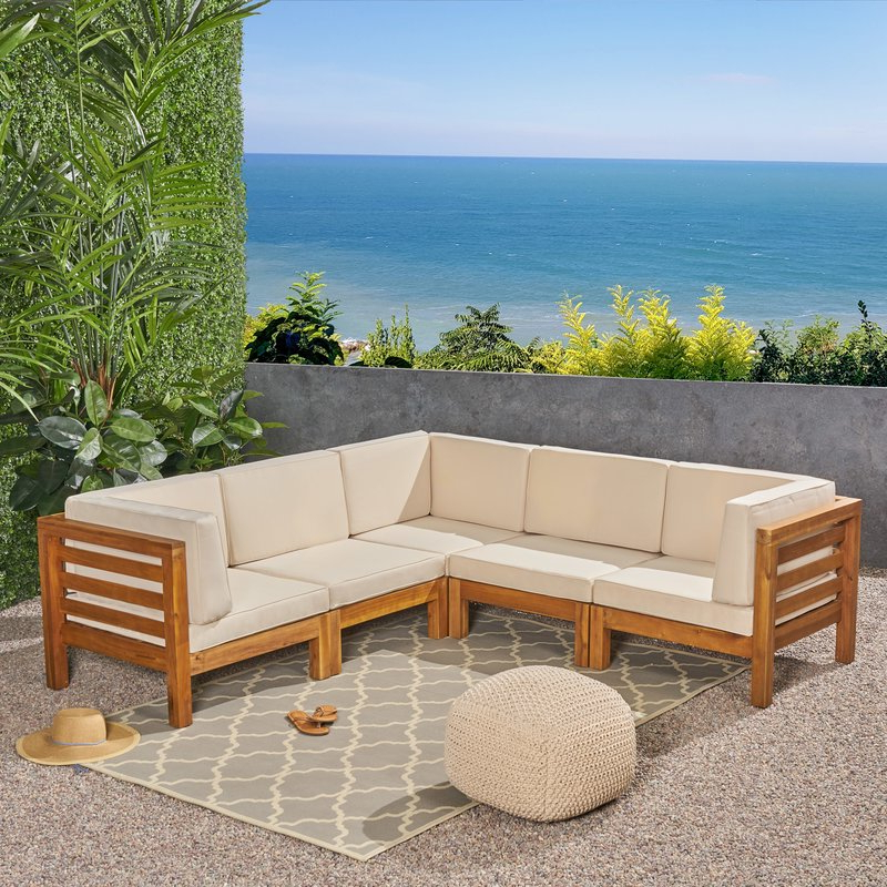 Famous Nolen Patio Sectionals With Cushions With Regard To Seaham Patio Sectional With Cushions (View 3 of 20)