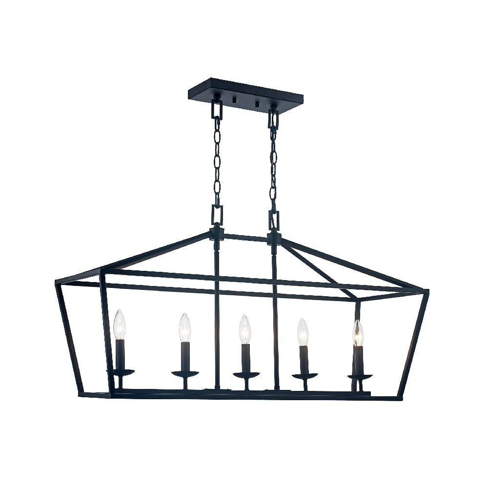 Famous Odie 8 Light Lantern Square / Rectangle Pendants Inside Monteaux Lighting Caged 5 Light Bronze Chandelier (Gallery 20 of 20)