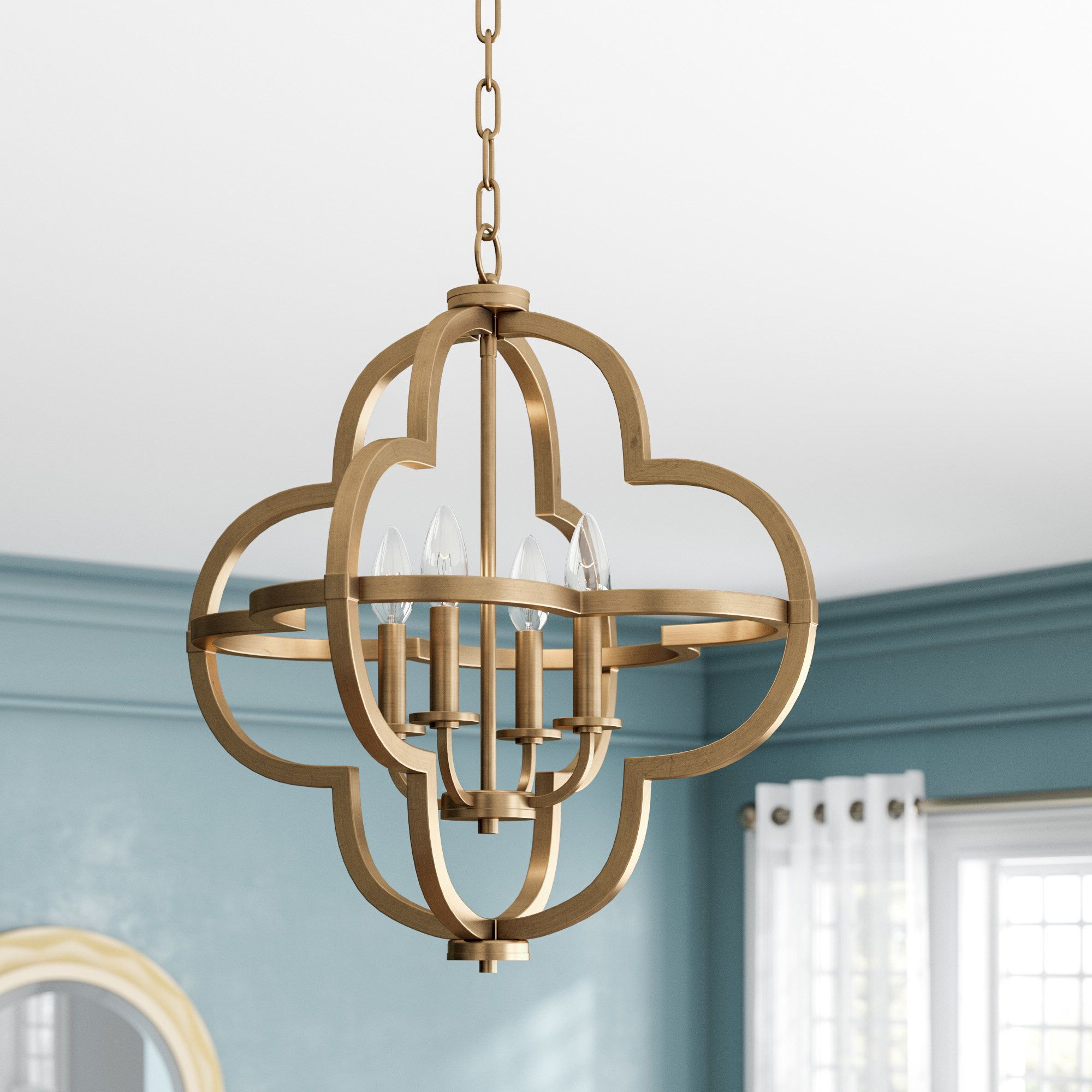 Famous Reidar 4 Light Geometric Chandeliers Within Middleton 4 Light Pendant (Gallery 11 of 20)