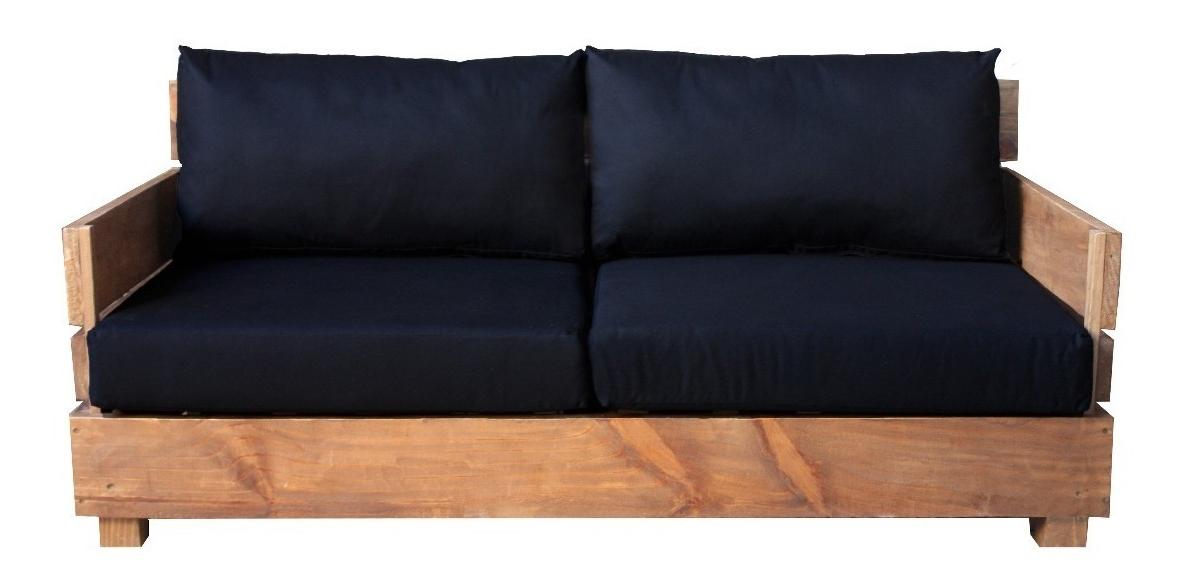 Famous Sofá Thai 160X78X35 Madera Reciclada Pantano Pallet Inside Pantano Loveseats With Cushions (Gallery 17 of 20)