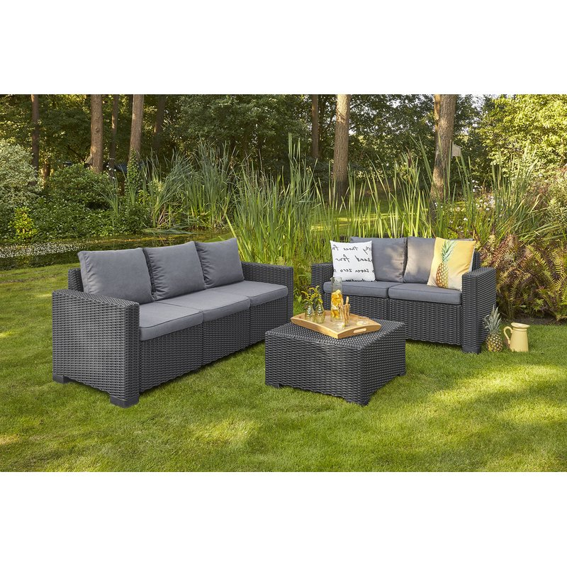 Famous Stallcup Patio Sofa With Cushions Inside Silloth Patio Sofas With Cushions (View 2 of 20)