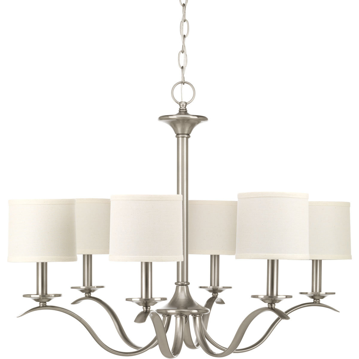 Famous Suki 5 Light Shaded Chandeliers With Sheffield 6 Light Shaded Chandelier (Gallery 14 of 20)