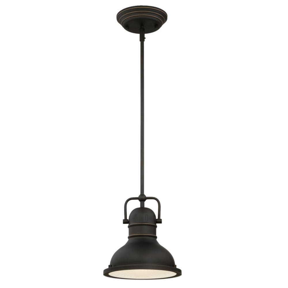 Famous Terry 1 Light Single Bell Pendants For Westinghouse Boswell 1 Light Oil Rubbed Bronze With Highlights Mini Pendant  With Led Bulb (Gallery 20 of 20)