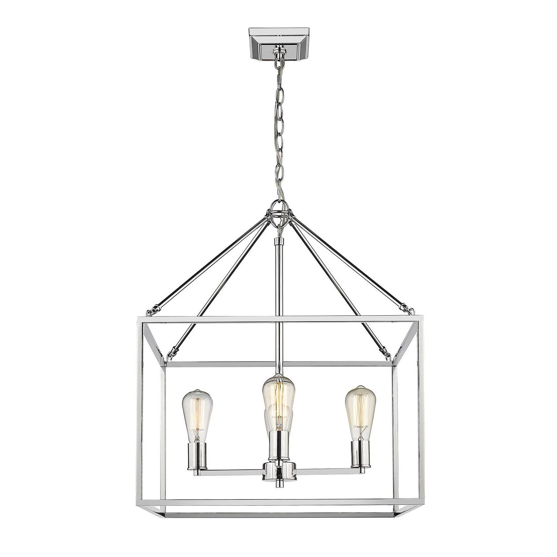 Famous Thorne 4 Light Lantern Rectangle Pendants Pertaining To Zabel 4 Light Lantern Square / Rectangle Pendant (View 10 of 20)