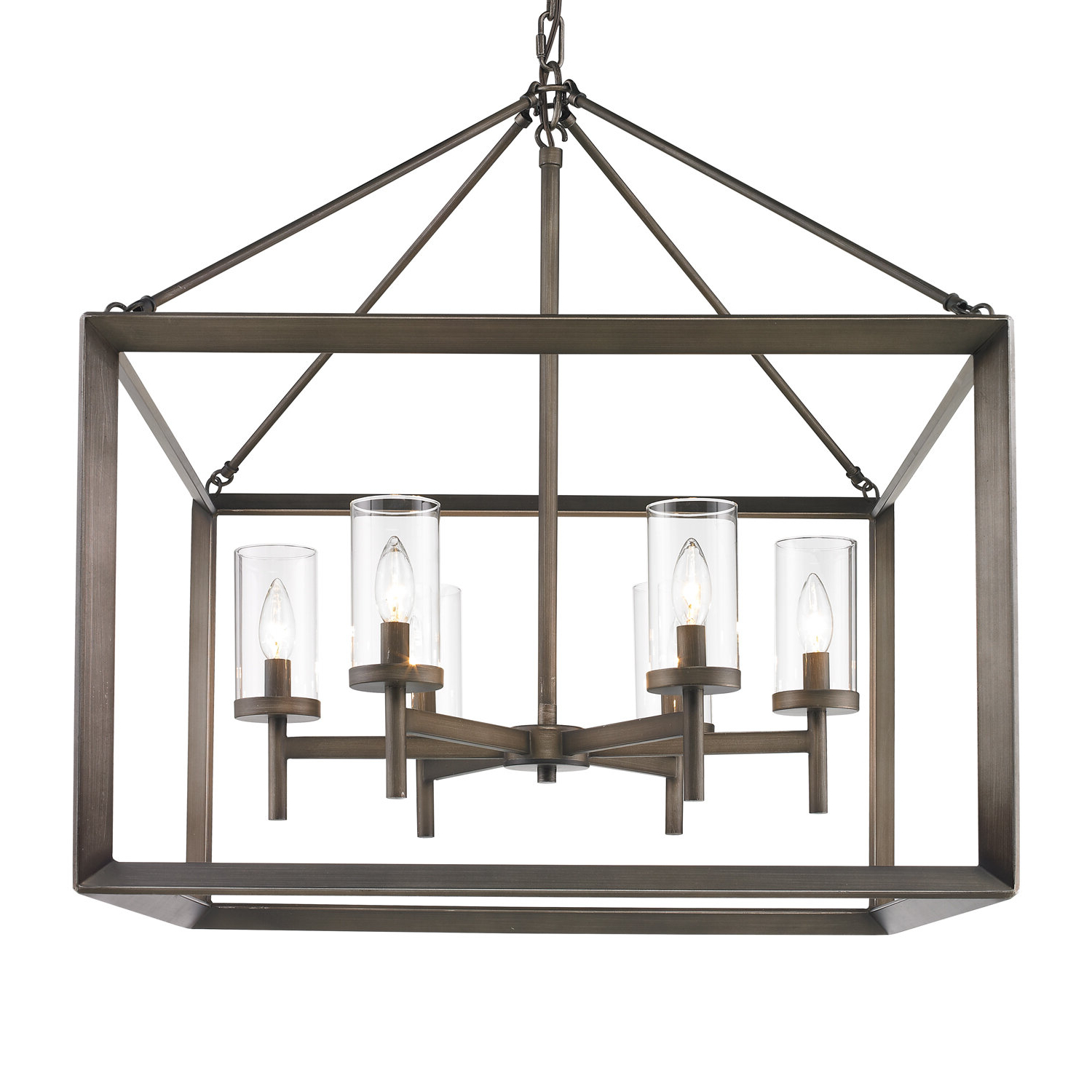 Famous Thorne 6 Light Lantern Square / Rectangle Pendant Intended For William 4 Light Lantern Square / Rectangle Pendants (View 3 of 20)